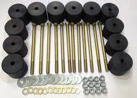 Боди лифт комплект 65 мм УАЗ Хантер капролон (d=70 мм) с крепежом (12 болтов М12x200) чёрный цвет