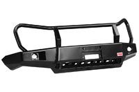Бампер РИФ передний ГАЗ Соболь с доп. фарами и защитной дугой, лифт 50 мм