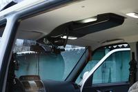 Консоль потолочная для установки р/c УАЗ Патриот рестайлинг 2015, вырез под р/c 140х40 мм, черная