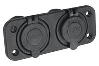 Розетка комбинированная с USB 3,1А на монтажной панели
