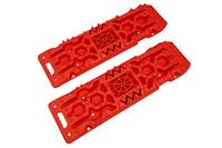 Сенд-траки пластиковые 108х31 см усиленные, с площадкой под домкрат, красные (2 шт.)