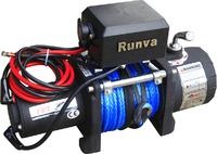 Лебёдка электрическая 12V Runva 5000 lbs 2268 кг (синтетический трос)