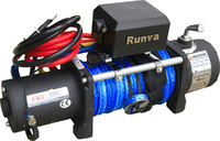 Лебёдка электрическая 12V Runva 8000  lbs 3629 кг (синтетический трос)