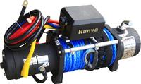 Лебёдка электрическая 12V Runva 9500 lbs 4350 кг (синтетический трос) Спорт