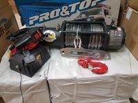 Лебедка электрическая PRO&TOP 13500LBS влагозащищенная синтетический трос