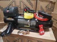 Автомобильная лебедка 4х4 Эксперт 14216МТ металлический трос (шакл и корозащитная стропа в комплекте)