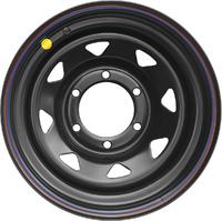 Диск усиленный Тойота Ниссан Mitsubishi L200 2005+ стальной черный 6x139,7 8xR16 d110 ET+30 (треуг. мелкий)
