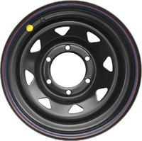 Диск усиленный Тойота Ниссан стальной черный 6x139,7 8xR16 ET0 (треуг. мелкий)