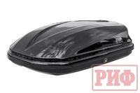 Бокс автомобильный на крышу РИФ Туризм-М 360 л черный глянец, двусторонний