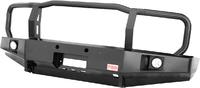Бампер РИФ передний Toyota Land Cruiser 76/78 2007+ c доп. фарами и защитной дугой, с площадкой под
