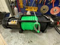 Автомобильная лебедка 4х4 серия Т 12000СТ синтетический трос (без блока управления, проводов, пультов и клюза)