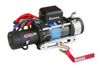 Лебёдка электрическая высокоскоростная 24V Runva 9500 lbs 4350 кг (синтетический трос)