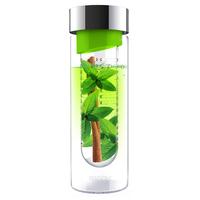 Бутылка FLAVOUR IT, 480 мл, серебряный/ зеленый