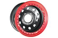 Диск усиленный Тойота Ленд Крузер 100 стальной черный 5x150 8xR16 d113 ET-14 с бедлоком (красный)
