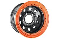 Диск усиленный Тойота Ленд Крузер 100 стальной черный 5x150 8xR16 d113 ET-3 с бедлоком (оранжевый)