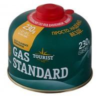 Баллон газовый резьбовой TOURIST STANDARD для портативных приборов 230 г.