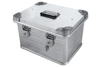 Ящик алюминиевый РИФ усиленный с замком 432х335х277 мм (ДхШхВ)