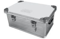 Ящик алюминиевый РИФ усиленный с замком 582х385х277 мм (ДхШхВ)