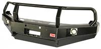 Бампер РИФ передний VW Amarok с доп. фарами и защитной дугой