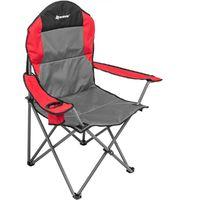Кресло NISUS складное (серый/красный/черный)