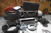 Лебедка автомобильная Electric Winch 12v, 12000LBS синтетический трос