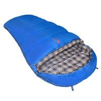 Мешок спальный BTrace Broad (Левый,Серый/Синий)