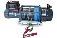 Лебёдка электрическая 12V Runva 20000 lbs синтетический трос (влагозащищенная)