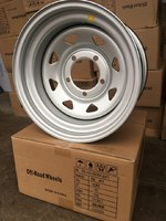 Диск усиленный УАЗ стальной серебристый 5x139,7 8xR15 d110 ET-25 (треуг. мелкий)