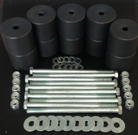 Боди лифт комплект 50 мм УАЗ Патриот капролон (d=70 мм) с крепежом (10 болтов М12x200) чёрный цвет