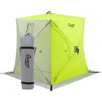 Палатка зимняя PREMIER Куб 1,5х1,5 желтый люминисцентный/серый