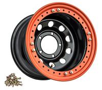 Диск усиленный УАЗ стальной черный 5x139,7 10xR15 d110 ET-44 с бедлоком (оранжевый)