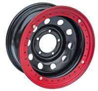 Диск УАЗ стальной черный 5x139,7 8xR16 d110 ET-24 с бедлоком (красный)