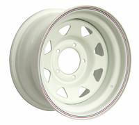 Диск УАЗ стальной белый 5x139,7 8xR15 d110 ET-25 (треуг. мелкий)
