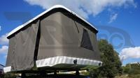 Палатка М2 на крышу автомобиля белая 219x166x38 см