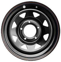 Диск ВАЗ НИВА стальной черный 5x139,7 7xR16 d98,5 ET+25 (треуг. мелкий)