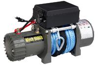 Лебёдка электрическая 12V CM9000S с синтетическим тросом (короткий барабан)