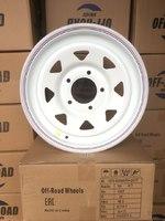 Диск усиленный ВАЗ НИВА стальной белый 5x139,7 7xR16 d98,5 ET+25 (треуг. мелкий)