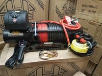 Автомобильная лебедка 4х4 Эксперт 14216СТ синтетический трос (шакл и корозащитная стропа в комплекте)