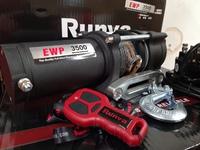 Лебёдка электрическая 12V Runva 3500A lbs 1588 кг (кевлар) EWP с пультом ДУ