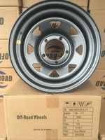 Диск усиленный УАЗ стальной серый (Gun-Metal) 5x139,7 8xR16 d110 ET0 (треуг. мелкий)