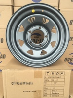 Диск УАЗ стальной серый (Gun-Metal) 5x139,7 7xR16 d110 ET0 (треуг. мелкий)