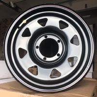 Диск усиленный УАЗ стальной черный 5x139,7 7xR17 d110 ET+15 (треуг. мелкий)