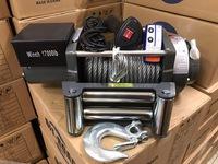 Лебедка автомобильная Electric Winch 24v, 17000LBS 7727 кг.