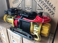 Спортивная электрическая лебедка Golden Power EWB75. AIR+MAN. Синтетика. Передаточное число 75:1 5300кг.12V(пневмо 2:1 ручной)