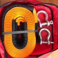 Стропа динамическая Off-wheels  9т. 6м. оранжевая в сумке + 2 шакла 3.25т.