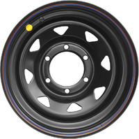 Диск Тойота Ниссан стальной черный 6x139,7 8xR16 d110 ET-25 (треуг. мелкий)