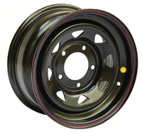Диск усиленный УАЗ стальной черный 5x139,7 8xR15 d110 ET-40 треуг. мелкий (только на барабанные тормоза)
