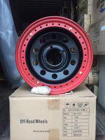 Диск УАЗ стальной черный 5x139,7 8xR16 d110 ET-19 с бедлоком (красный)