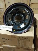 Диск усиленный УАЗ стальной черный 5x139,7 7xR16 d110 ET+30 (треуг. мелкий)